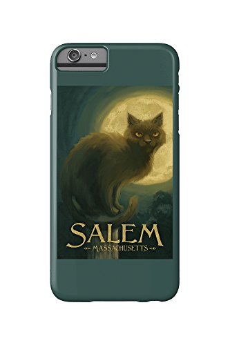 Salem, Massachusetts - Black Cat - Halloween Oil Painting (iPhone 6 Plus Cell Phone Case, Slim Barely There)