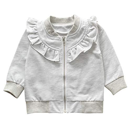 Hawkimin_Babybekleidung Hawkimin Kleinkind Kinder Baby Mädchen Baumwolle Langarm Solide Zipper Sweatshirt