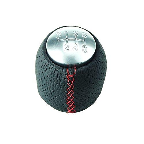 DoLED Pommeau de levier de vitesse avec coutures rouges, pièce de rechange pour levier 6 vitesses