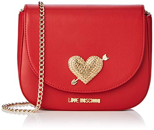 Love Moschino - Pu, Carteras de mano Mujer, Rojo (Rosso), 15x10x15 cm (W x H L)