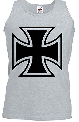 Hotrod Athletic Vest Shirt Iron Cross Tolles Geschenk für Us Car und Hot Rod Fans Tank Top, Trägershirt, Muskelshirt Grau / Schwarz