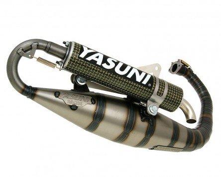 Preisvergleich Produktbild Auspuff YASUNI Carerra 16 Carbon / Aramid - YAMAHA Zuma II (Minarelli-Stehend)