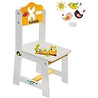 Preisvergleich für alles-meine.de GmbH Stuhl für Kinder - aus Sehr stabilen Holz - lustige Eulen auf Dem AST - Weiß..