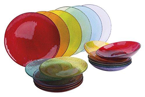 Excelsa scratch servizio piatti 18 pezzi, vetro
