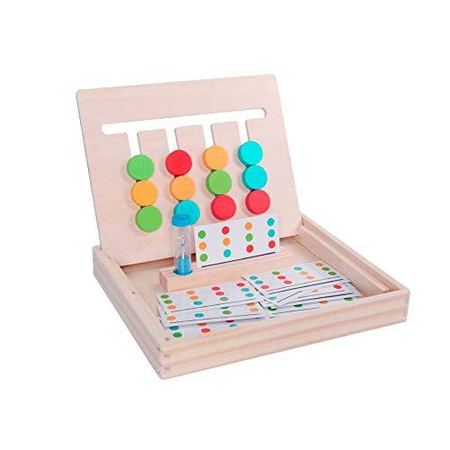 Lernspielzeug ab 3 Jahren,Kinder Puzzles Spielzeug,Logik Spiel Holzspielzeug für Kleinkinder Vorschule Lehre Früherziehung Spielzeug