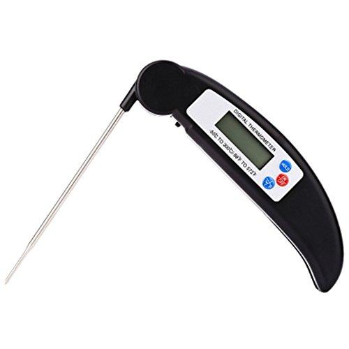 Snatchcz Faltbares Digital-Lebensmittel BBQ-Grill-Fleisch-Thermometer, Der Werkzeug-Schwarzes Kocht