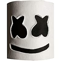 papaxiong Marshmello DJ- Máscara de Fiesta para Casco de Halloween, Máscara de Cosplay, Bares y Accesorios de Música