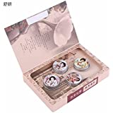 SYCZ-127 4pcs Sweet Floral Parfume Fragrance Balm Solid Perfumes For Women And Fragrances Deodorant Fragrance...