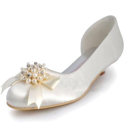 Chaussure de mariée satin Blanc