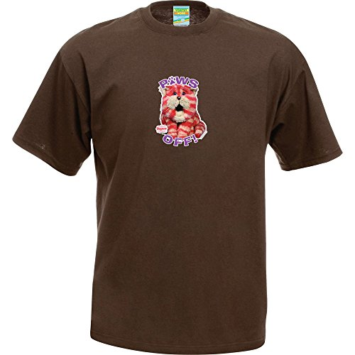 Bagpuss Paws Off T-Shirt, Chocolate, S, M, L, X-Large