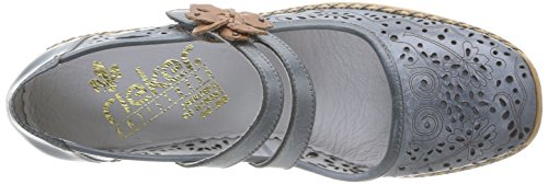 Rieker 41372/63, Chaussures de ville femme Bleu (Whitedenim/Nuss)