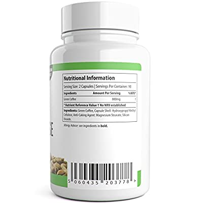 Green Coffee Cleanse 180 Capsules Vegetarian Weight Loss Pills High Strength UK Manufactured by Natural Answers