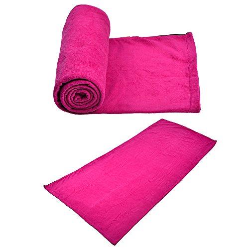 agemore Ultra Légère Doublure En Polaire Temps Froid Sac de couchage camping sac de couchage enveloppe Sacs Panier pour 3saisons (printemps, été, automne) Rose rouge