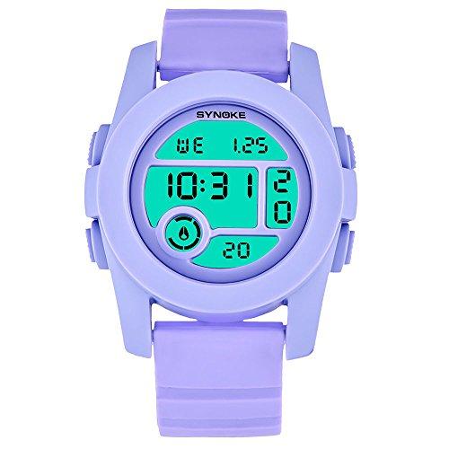 NEEKY Herren Armbanduhr,Sportuhren,Für Unisex Fitness Uhren - Multi Funktions wasserdichte Uhr LED Digital Double Action Watch