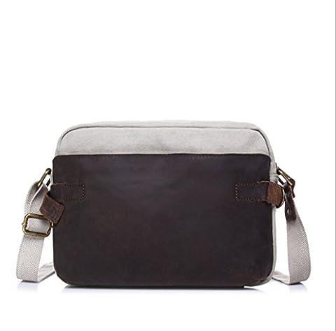 Sucastle Fashionable canvas bag shoulder diagonal package Sucastle Colour:creamy-white size:30x20x8cm