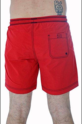 Napapijri - Villa Solid A, Costume Da Bagno da uomo Rosso