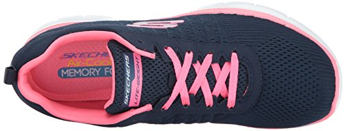 Skechers Damen Flex Appeal 2.0-Break Free Outdoor Fitnessschuhe Blau (Nvhp)