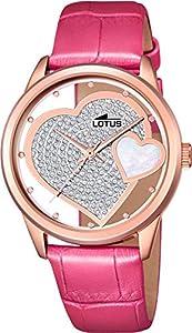 Reloj Lotus Corazón Swarosvski Rosa
