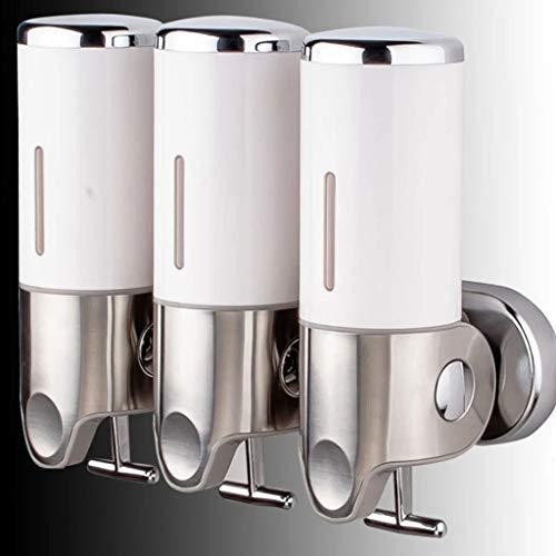YAALO Wandbefestigung Seifenspender, 3X500ML Handbuch Emulsionsspender, Edelstahl Soap Dispenser Spender Für Küchen Bad Lernen Krankenhaus-3-Weiß - Bad-spender