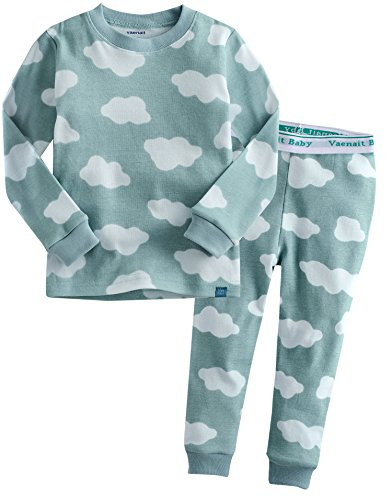 Jungen Langarm zweiteilig Schlafanzug Pajamas 2pcs Set Long Cloud Pognie Blue XL