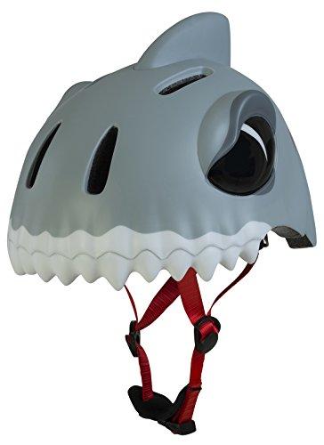 erdbeerloft- Fahrradhelm Schutzhelm Kind - Crazy Safety - Hai White Shark, grau
