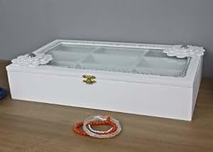 kiste holzkiste wei blume holz schmuckkiste deckel box holzbox glasdeckel glas. Black Bedroom Furniture Sets. Home Design Ideas