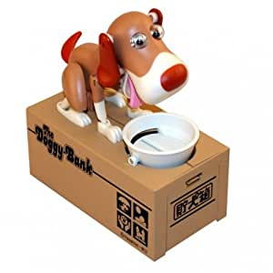 Spardose hungriger Hund - The Doggy Bank Sparbüchse - braun