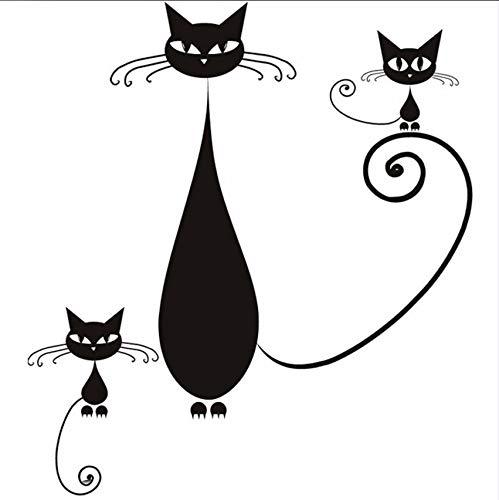 Pmhhc Diy Home Decor Abnehmbare Vinyl Siam Katze Mutter Und Kätzchen Wandaufkleber Wohnzimmer Sofa Hintergrund -