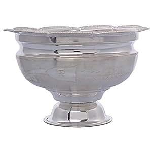Deepak Silver's Silver Prasadam Bowl, 8 cm x 12 cm, Silver, D_19