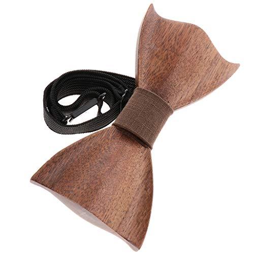 Tie Bow Kostüm - P Prettyia Hölzerne Fliege Bow Tie Schleife Bowknot Kostüm Zubehör für Bräutigam und Männliche Gäste - C