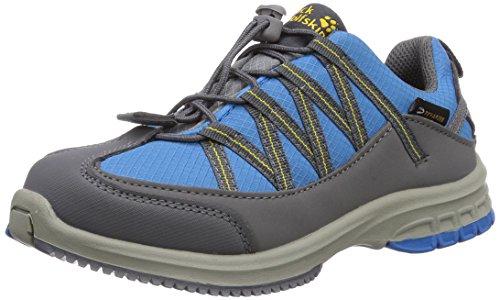 Jack Wolfskin Kids Hideaway Texapore, Chaussures de randonnée mixte enfant Bleu - Blau (dark sulphur 3055)