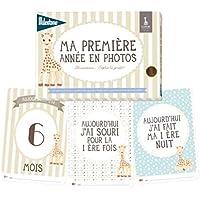 """Milestone - Cartes souvenirs - Ma première année"""" Sophie la Girafe"""" - Papier - sophie"""