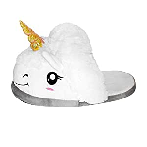 Misslight - Pantofole Unicorno Magico taglia Pantofole Con Animali unicorno Invernali Unisex Halloween Cosplay , taglia 39-42, Bianco