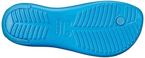 crocs Damen Sexi Flip Women Sandalen Blau (Ultramarine)