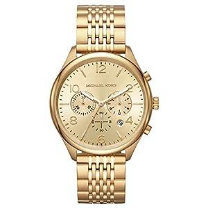 Michael Kors Herren Chronograph Quarz Uhr mit Edelstahl Armband MK8638