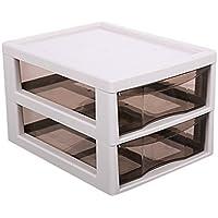 Met Love Gabinetes de Archivo de Plástico Oficina A4 Estuche de Cosméticos Transparente Caja de Almacenamiento de Escritorio Tipo de Cajón Acabado Estante de Almacenamiento Blanco