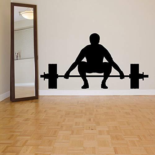 supmsds palestra body builder power lift adesivi murali di sport room wallpaper art decorazione vinile decalcomanie da muro gym background decor 109x54cm