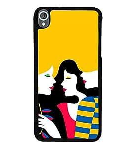 Fuson Designer Back Case Cover for HTC Desire 820 :: HTC Desire 820 Dual Sim :: HTC Desire 820S Dual Sim :: HTC Desire 820Q Dual Sim :: HTC Desire 820G+ Dual Sim (friends Girls Trendy Stylish Gorgeous Girls)