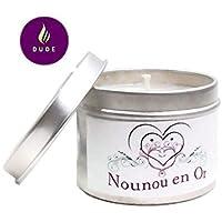 Bougie Parfumée Nounou en Or Parfum au choix Bougie Naturelle Cadeau Nounou Cadeaux Noël Cadeaux Anniversaire Merci Cadeaux Cadeaux Personnalisés