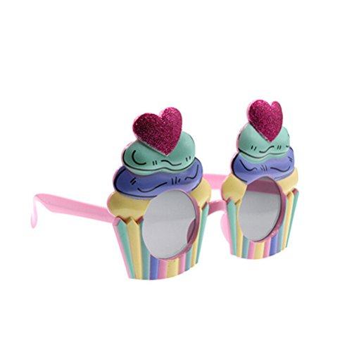 OULII Eiscreme Kuchen Sonnenbrille Kostüm Gläser Stützen Lustige Neuheit Partei (Paar Kostüme Kreative)