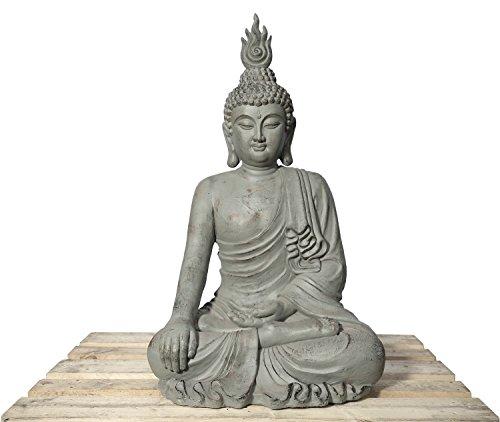 Lüllmann XXL Buddha Kopf 106cm Skulptur Steinoptik Frostfest Indoor-Outdoor Buddha 406174