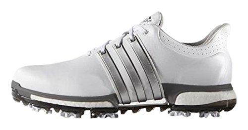 32937bf6f012 adidas Herren Tour 360 Boost Golfschuhe Weiß (White Dark Silver Metallic)