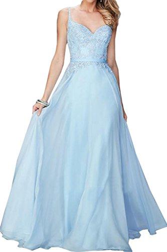 ivyd ressing robe haute qualité porteur ligne dentelle & mousseline A Party Prom robe longue Lave-vaisselle robe robe du soir Bleu