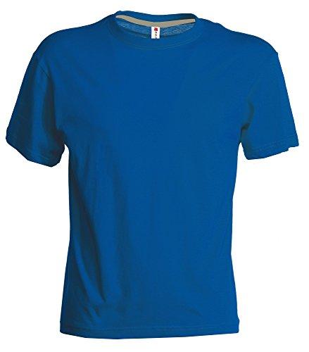 PAYPER Herren T-Shirt Rundhals-Ausschnitt Casual Fit mit Rippstrickkragen Royal
