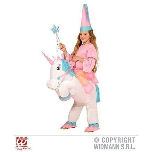 Lively Moments Aufblasbares Kostüm / Kinderkostüm / Mädchenkostüm Einhorn mit Prinzessin / Fee für Kinder (Pferd Fee Kostüm)