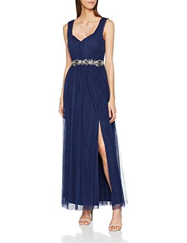 efa425b09fac Little Mistress Navy Embellished Waist Maxi Dress, Vestido de Fiesta para  Mujer, Azul 001, 40
