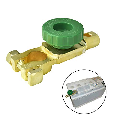 Newseego Autobatterie Schalter Trennschalter Universal Batterieschalter Batteriehauptschalter Stromunterbrecher Hauptstromschalter für Auto-Van-Boot-LKW-Autoteile (Grün)