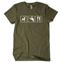 Jäger Triathlon T-Shirt - khaki - Gr. S bis XXL :: (Schützenkönig Shirt, Jagd Shirt )