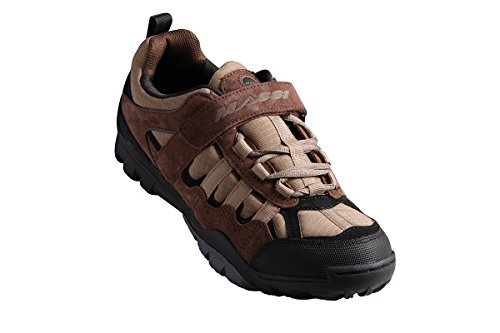 Massi Canyon - Zapatillas de ciclismo MTB unisex, color marrón, talla