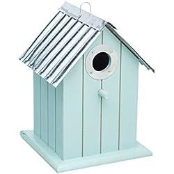 Kitchen Craft 15 x 15,5 x 21 cm Living Nostalgia casa para pájaros, Vintage azul